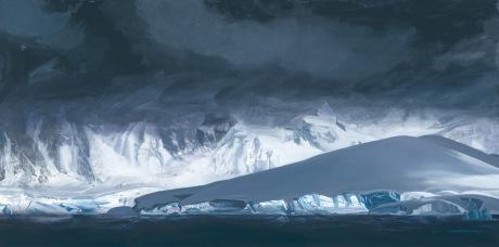 Glacier, Antarctica 36x72